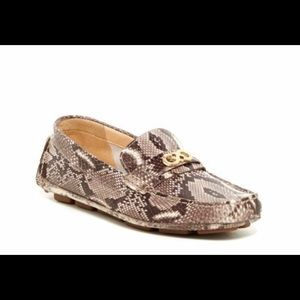 Cole Haan Shelby Moccasin Snake Print Loafer Shoes
